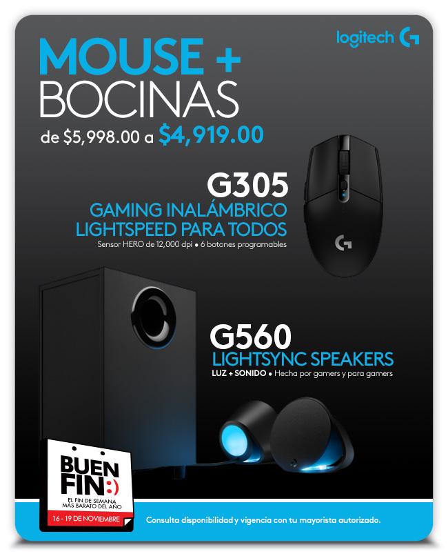 Aviso G305-G560 - Mouse + Bocinas - Logitech G