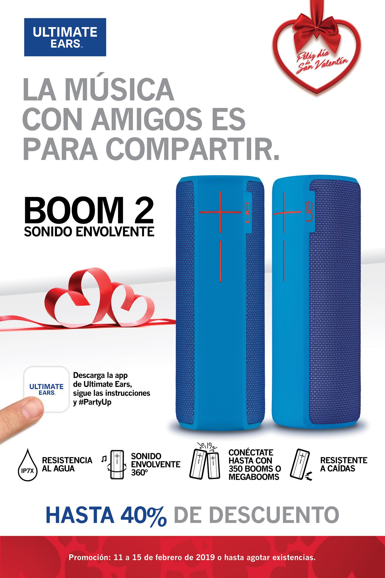 Promo Boom2 Azul - Bocinas portátiles bluetooth - Ultimate Ears