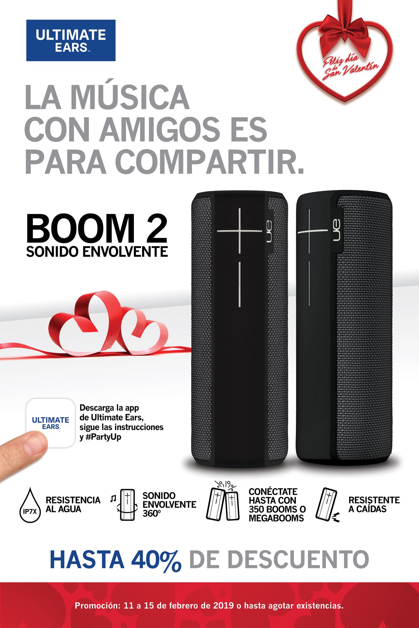 Promo Boom2 Negra - Bocinas portátiles bluetooth - Ultimate Ears