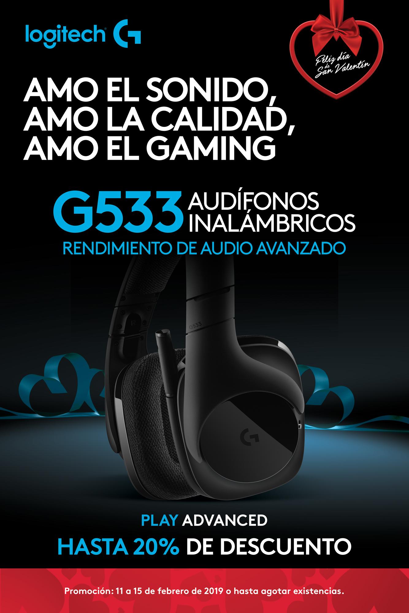 Promo G533 - Negro - Audífonos inalámbricos - Logitech G