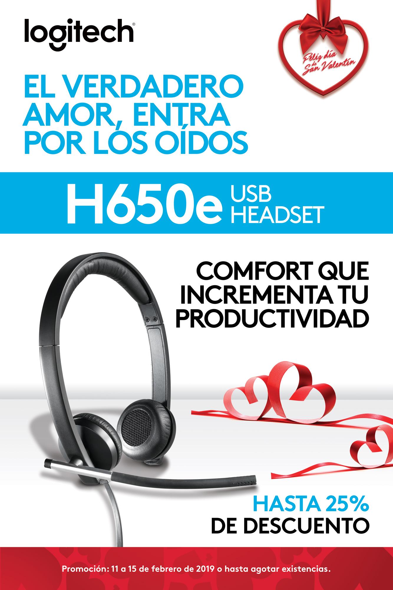 Promo H650e - Audífonos USB - Logitech