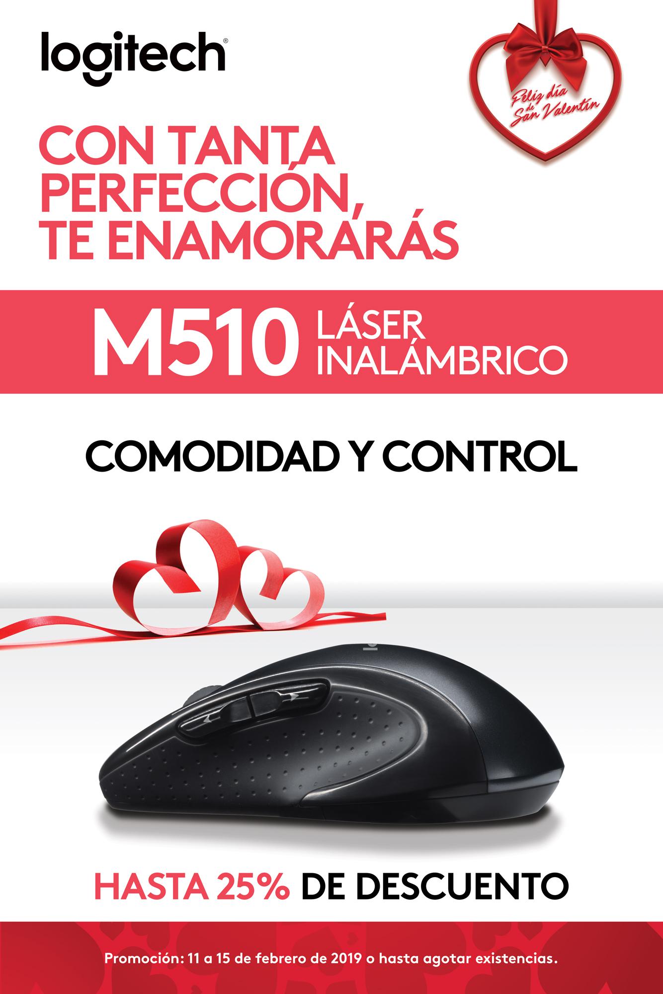 Promo M510 - Mouse láser inalámbrico - Logitech
