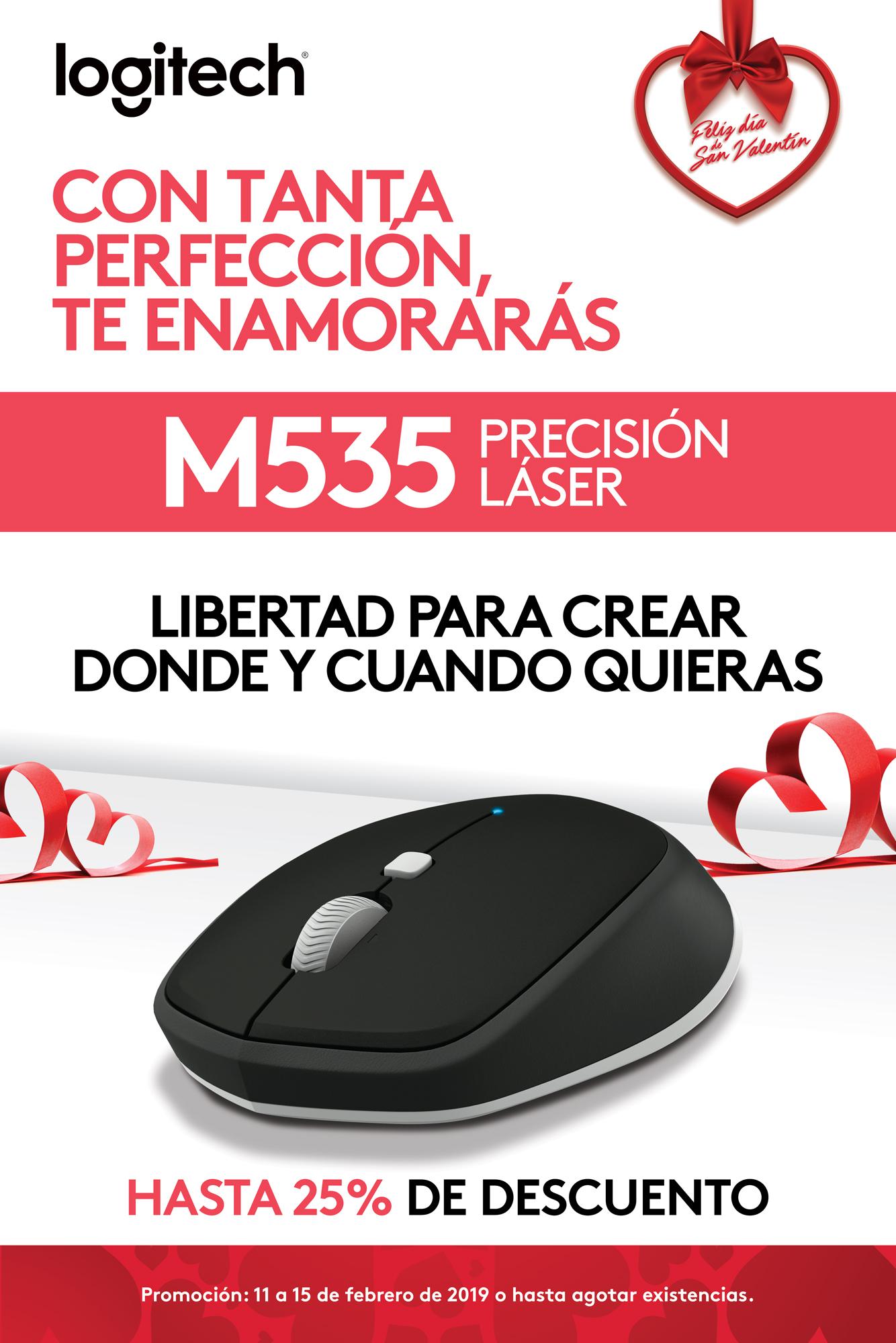 Promo M535 - Mouse láser - Logitech