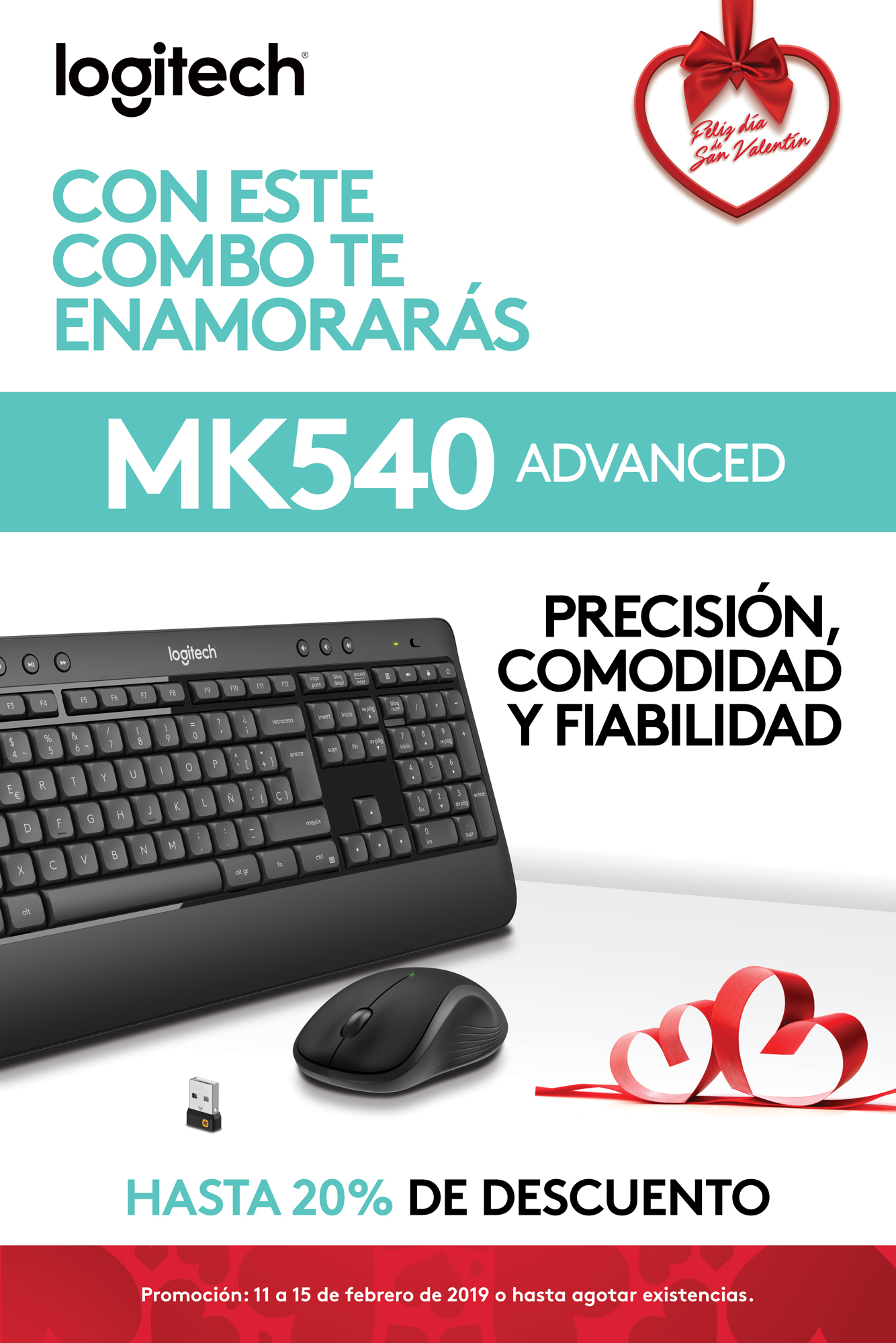 Promo MK540 - Combo teclado y Mouse - Logitech