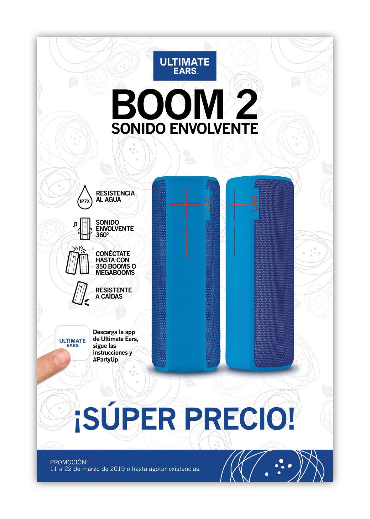 Promo Boom Azul - Bocinas portátiles - Ultimate Ears