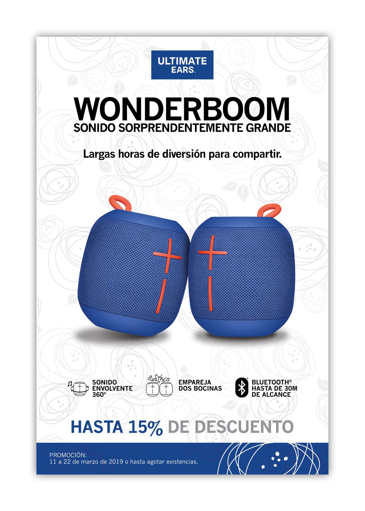 Poster Marzo Wboom Azul 32x48cm MUESTRA